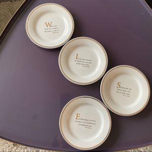 RESTORATION HARDWARE Set of 4 Gold Plates Quotes